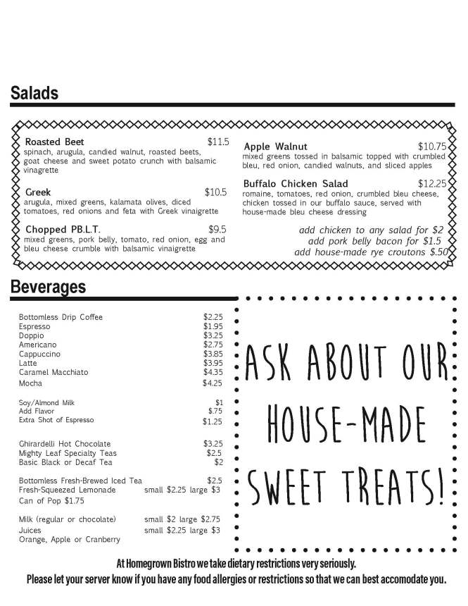Homegrown salad menu copy